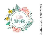 white frame with text hello... | Shutterstock .eps vector #268878239