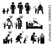 bad temper toddler baby tantrum ... | Shutterstock . vector #268880651