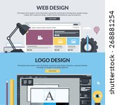 flat design concepts for web... | Shutterstock .eps vector #268881254