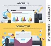 set of flat design style... | Shutterstock .eps vector #268881257