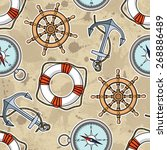 vector pattern with anchors ...   Shutterstock .eps vector #268886489