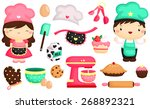 baker vector set | Shutterstock .eps vector #268892321