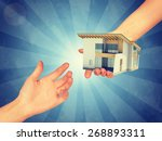 Small photo of Amass large fortune. Abstract light blue background