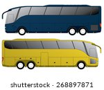 tourist bus design with double... | Shutterstock .eps vector #268897871