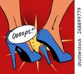 oops broke the heel the woman a ... | Shutterstock .eps vector #268899779
