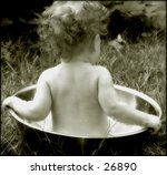 Vintage Look Photo Of A Baby...
