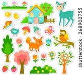 stickers designs with cute... | Shutterstock . vector #268902755