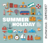 summer infographics. travel... | Shutterstock .eps vector #268902857