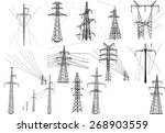 illustration with electric... | Shutterstock .eps vector #268903559