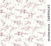 seamless pattern of hand drawn... | Shutterstock .eps vector #268904165