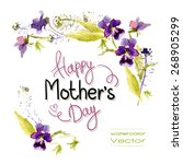 Greetings Mother's Day. Vector...