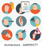 standard cabinet tip... | Shutterstock .eps vector #268909277