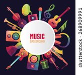 colorful music background. | Shutterstock .eps vector #268909991