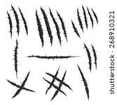 vector  black monster claw ... | Shutterstock .eps vector #268910321