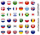 world flags collection. 36 high ... | Shutterstock . vector #268910969