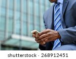 cropped image of businessman...   Shutterstock . vector #268912451