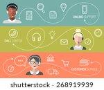 vector set of call center ... | Shutterstock .eps vector #268919939