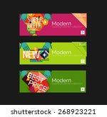 set of banners with stickers ... | Shutterstock .eps vector #268923221