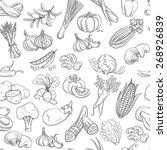 illustration outline hand drawn ... | Shutterstock . vector #268926839