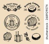old brewery logos set. kraft... | Shutterstock .eps vector #268929074