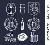 old brewery logos set. kraft... | Shutterstock .eps vector #268929101