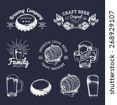 old brewery logos set. kraft... | Shutterstock .eps vector #268929107