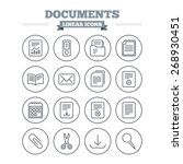 documents linear icons set.... | Shutterstock .eps vector #268930451