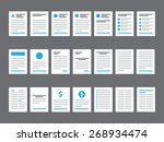 document icons   paper ... | Shutterstock .eps vector #268934474