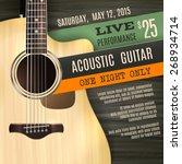 indie musician concert show... | Shutterstock .eps vector #268934714