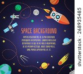 space cartoon background with... | Shutterstock .eps vector #268935485