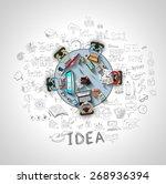 infographics teamwork with... | Shutterstock . vector #268936394
