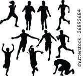 running people vector | Shutterstock .eps vector #26893684