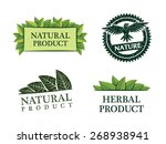 collection of vector nature... | Shutterstock .eps vector #268938941