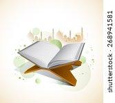 islamic holy month of prayers ... | Shutterstock .eps vector #268941581
