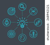 vector innovation concept in... | Shutterstock .eps vector #268942121