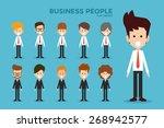 business people flat design ... | Shutterstock .eps vector #268942577
