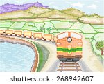 Diesel Train On Countryside  ...