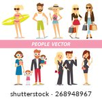 different people on summer...   Shutterstock .eps vector #268948967