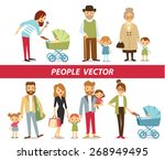 family members including... | Shutterstock .eps vector #268949495