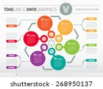 web template for circle diagram ... | Shutterstock .eps vector #268950137