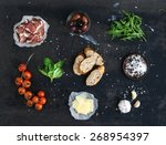 ingredients for sandwich with... | Shutterstock . vector #268954397