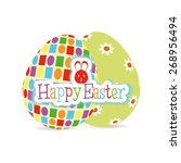 isolated easter eggs with... | Shutterstock .eps vector #268956494