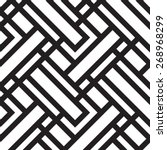 Vector seamless pattern, geometric background Black and white | Shutterstock vector #268968299