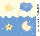 cute funny illustration of... | Shutterstock .eps vector #268969091