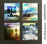 quote poster. typographical... | Shutterstock .eps vector #268969994