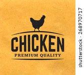 premium chicken meat label with ... | Shutterstock .eps vector #268970717