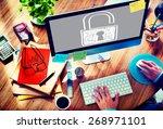 password privacy log in... | Shutterstock . vector #268971101