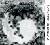 digital code background ... | Shutterstock .eps vector #268976141
