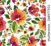 vector illustration for textile ... | Shutterstock .eps vector #268977521