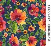 vector illustration for textile ... | Shutterstock .eps vector #268977551